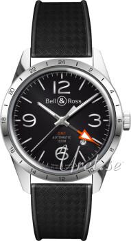 Bell & Ross BR 123 Czarny/Guma