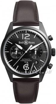 Bell & Ross BR 126 Czarny/Skóra