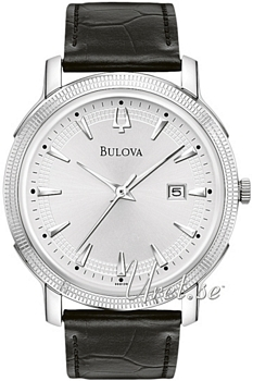 Bulova Dress Srebrny/Skóra Ø40 mm