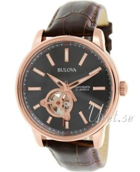 Bulova Mechanical Czarny/Skóra Ø40 mm