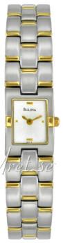 Bulova Bracelet Biały/Stal w odcieniu złota