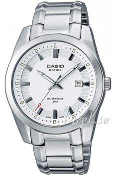 Casio Biały/Stal Ø37.3 mm