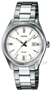 Casio Collection Biały/Stal Ø30 mm