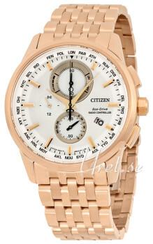 Citizen Perpetual Calendar Biały/Stal w kolorze różowego złota