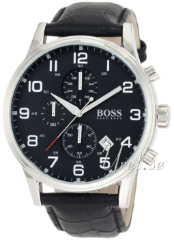 Hugo Boss Contemporary Sport Czarny/Skóra Ø44 mm