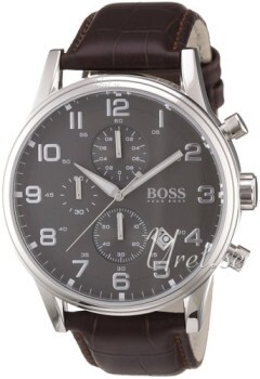 Hugo Boss Szary/Skóra Ø44 mm