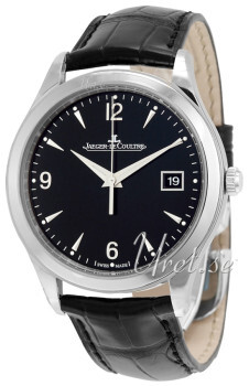 Jaeger LeCoultre Master Control Date Stainless Steel Czarny/Skór