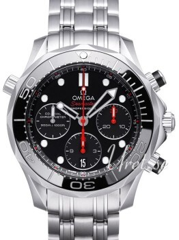 Omega Seamaster Diver 300m Co-Axial Chronograph 41.5mm Czarny/St
