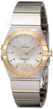 Omega Constellation Quartz 27mm Srebrny/18 karatowe żółte złoto
