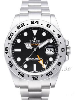 Rolex Explorer II Czarny/Stal