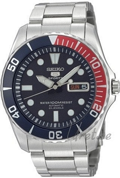 Seiko Seiko 5 Niebieski/Stal Ø42 mm