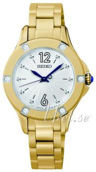 Seiko Dress Ladies Srebrny/Stal w odcieniu złota Ø30 mm
