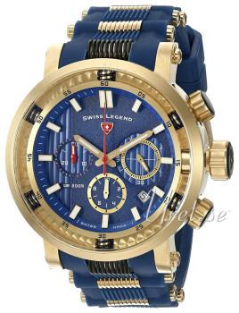 Swiss Legend Niebieski/Stal w odcieniu złota Ø50 mm