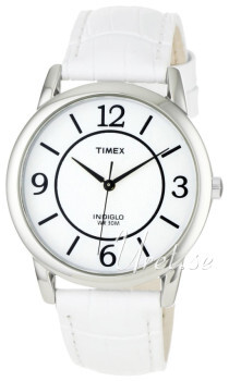 Timex Classic Elevated Biały/Skóra Ø35 mm