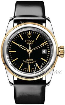 Tudor Glamour Date Czarny/Skóra Ø26 mm