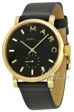Marc by Marc Jacobs Baker Czarny/Skóra Ø37 mm