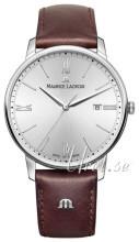 Maurice Lacroix Eliros Date Srebrny/Skóra Ø40 mm