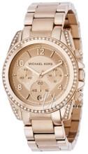 Michael Kors Blair Chronograph Różowe złoto/Stal w kolorze różow