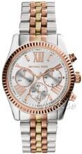 Michael Kors Lexington Chronograph Biały/Stal w odcieniu złota