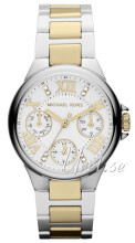 Michael Kors Chronograph Biały/Stal w odcieniu złota