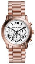 Michael Kors Biały/Stal w kolorze różowego złota