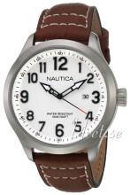 Nautica Dress Biały/Skóra Ø45 mm