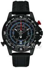 Nautica Chronograph Czarny/Guma