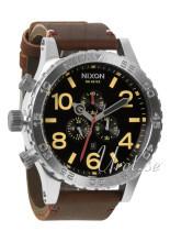 Nixon The 51-30 Leather Czarny/Skóra Ø51 mm