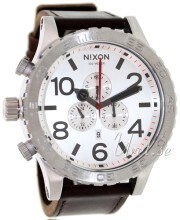 Nixon The 51-30 Leather Biały/Skóra Ø51 mm