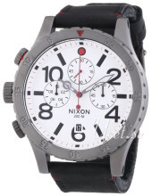 Nixon The 48-20 Biały/Skóra Ø48 mm