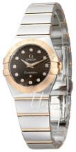 Omega Constellation Quartz 24mm Brązowy/18 karatowe różowe złoto