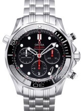 Omega Seamaster Diver 300m Co-Axial Chronograph 44mm Czarny/Stal