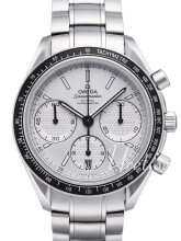 Omega Speedmaster Racing Co-Axial Chronograph 40mm Biały/Stal