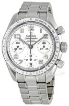 Omega Speedmaster Chronograph 38mm Biały/Stal