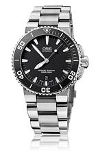 Oris Divers Aquis Date Czarny/Stal