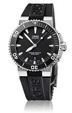Oris Divers Aquis Date Czarny/Guma