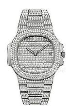 Patek Philippe Nautilus Zestaw diamentów/18 karatowe białe złoto