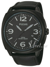 Pulsar Dress Czarny/Skóra