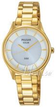 Pulsar Dress Biały/Stal w odcieniu złota Ø28 mm