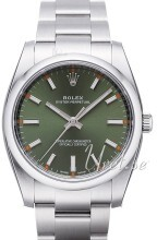 Rolex Oyster Perpetual 34 Zielony/Stal