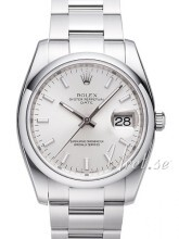 Rolex Perpetual Date Srebrny/Stal Ø34 mm