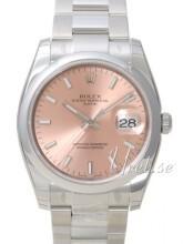 Rolex Perpetual Date Różowy/Stal Ø34 mm