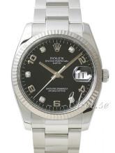 Rolex Perpetual Date Czarny/Stal Ø34 mm