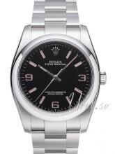 Rolex Perpetual Czarny/Stal