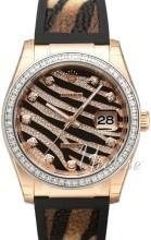 Rolex Datejust 36 Czarny/Skóra
