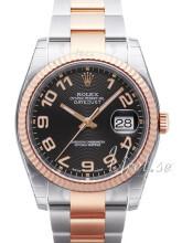 Rolex Datejust 36 Czarny/Stal