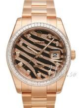 Rolex Datejust 36 Czarny/18 karatowe różowe złoto