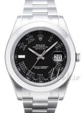 Rolex Datejust II Czarny/Stal