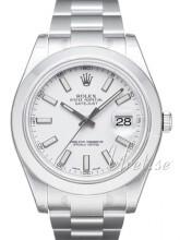 Rolex Datejust II Biały/Stal