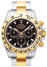 Rolex Cosmograph Daytona Czarny/18 karatowe żółte złoto Ø40 mm